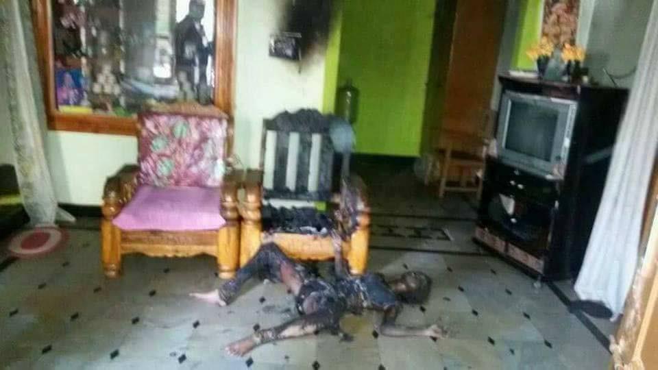 nạn nhân chết cháy, cháy thành than, vừa sạc pin vừa chơi điện thoại, điện thoại