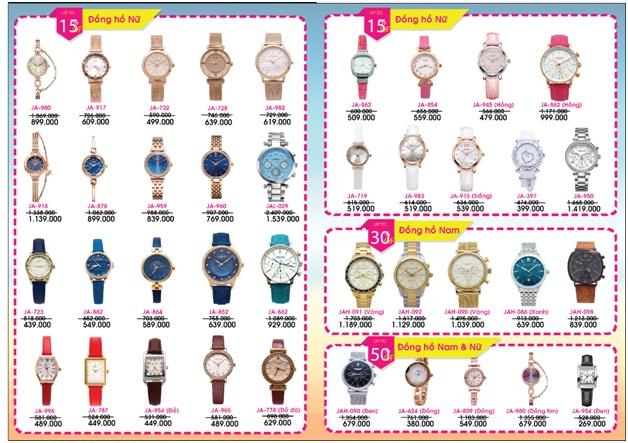 khuyến mại đồng hồ, đồng hồ julius, thương hiệu đồng hồ