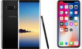 so sách điện thoại note 8 và iphone x, tính năng của iphone x, tính năng của galaxy note 8