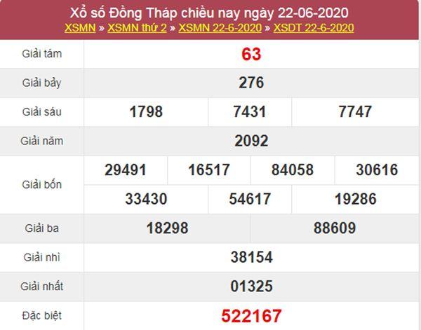 Thống kê XSDT 29/6/2020 chốt KQXS Đồng Tháp thứ 2