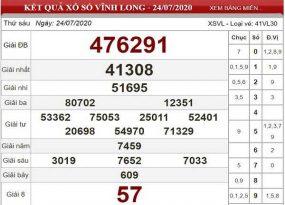 Soi cầu KQXSVL- xổ số vĩnh long ngày 31/07 thứ 6 chuẩn xác