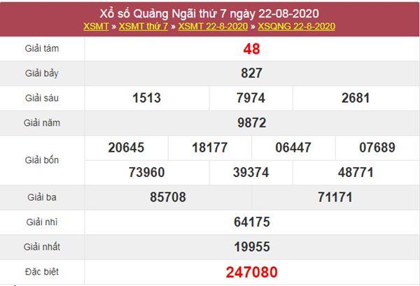 Phân tích XSQNG 29/8/2020 chốt lô Quảng Ngãi thứ 7