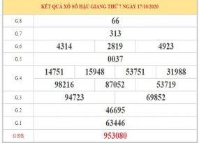 Thống kê XSHG ngày 24/10/2020 dựa trên phân tích KQXSHG kỳ trước