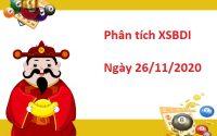 Phân tích XSBDI 26/11/2020