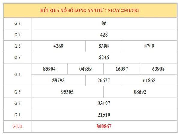 Nhận định KQXSLA ngày 30/1/2021 dựa trên kết quả kì trước