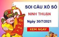 Soi cầu XSNT ngày 30/7/2021