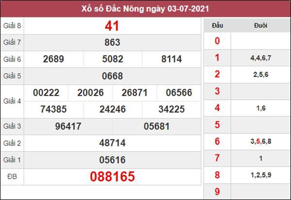 Phân tích XSDNO 10/7/2021 chốt đầu đuôi giải đặc biệt